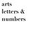 arts letters and numbers