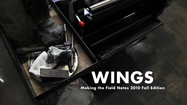 Video | Wings: Making the Field Notes 2010 Fall Edition