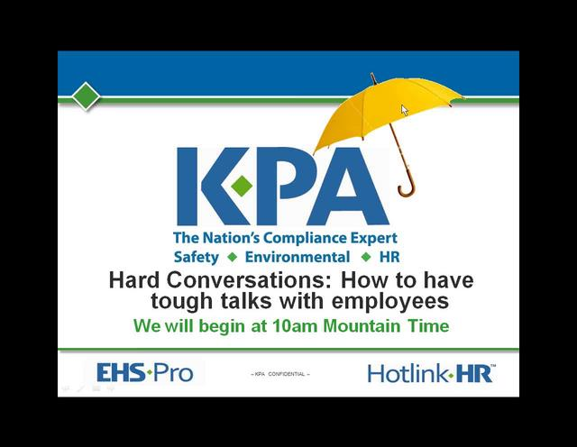 Recorded Webinar: Hard Conversations - How to Have Tough Talks with Employees