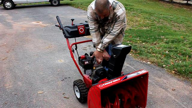 Troy Bilt  Cycle Curved Shaft Gas Trimmer Home Depot