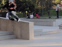 Kenth Ulvedal at two of the new skateparks in Stockholm.