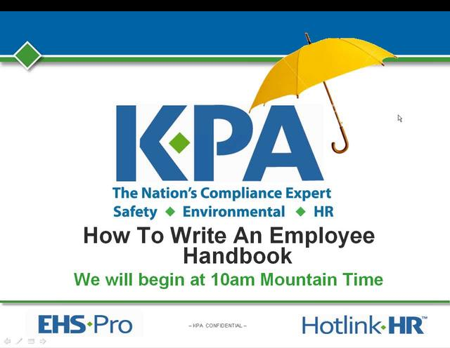 Recorded Webinar: How to Write An Employee Handbook
