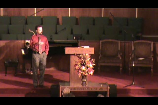 Still image of 10-31-2010 sermon