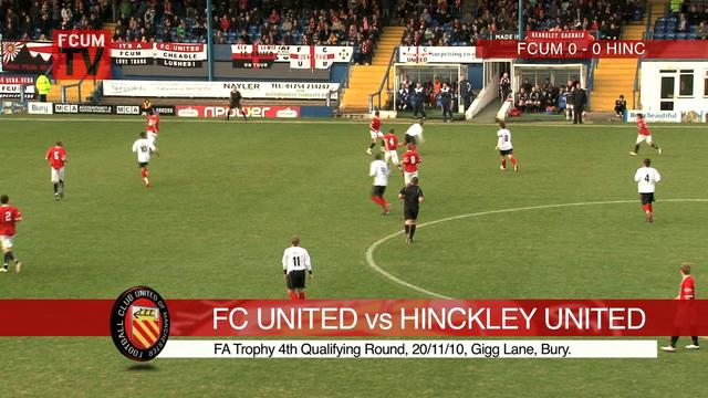 FC United vs Hinckley United FAT 4Q 20/11/10 - Goals