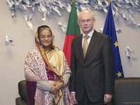 With Prime Minister of Bangladesh, Sheikh Hasina