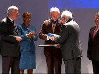 "Extract at the Award of the ""Collier du mérite européen"" ceremony"