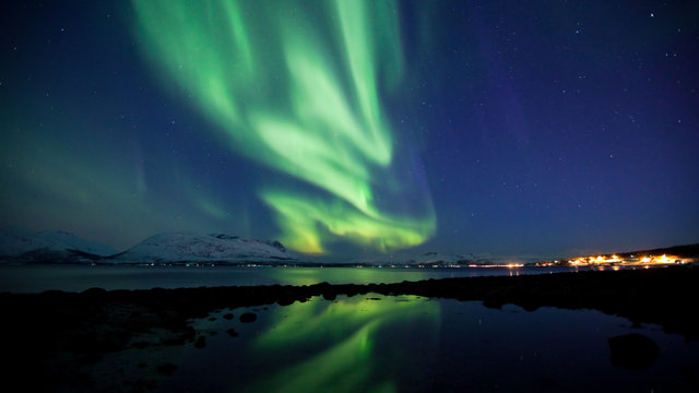 Aurora Borealis timelapse HD