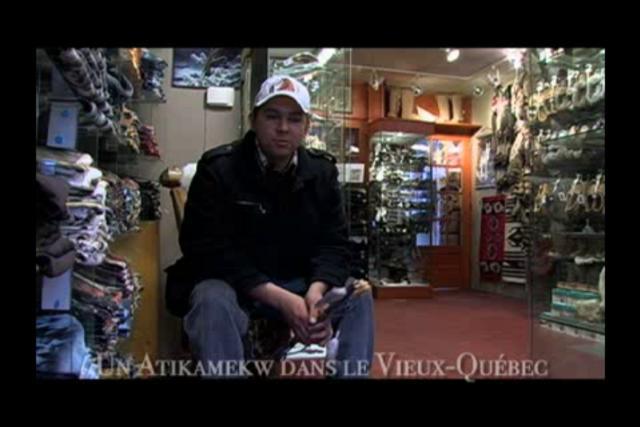 Un atikamekw dans le Vieux-Québec