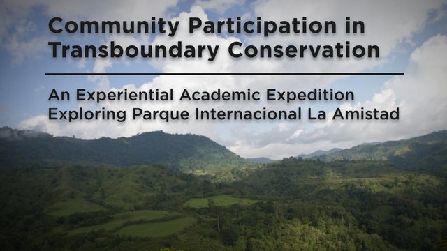 Community Participation in Transboundary Conservation