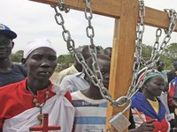 March to Independence Square, Bor, South Sudan