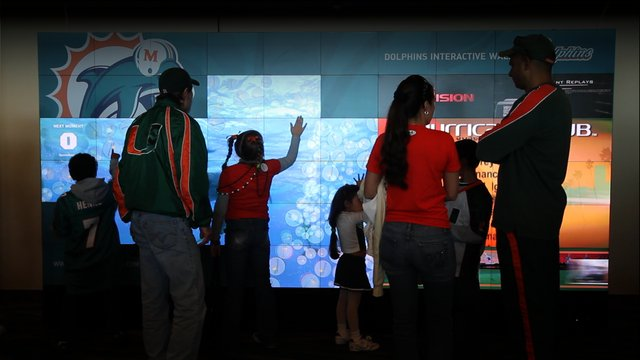 Case study: The Miami Dolphins Interactive Wall, featuring Christie® MicroTiles™