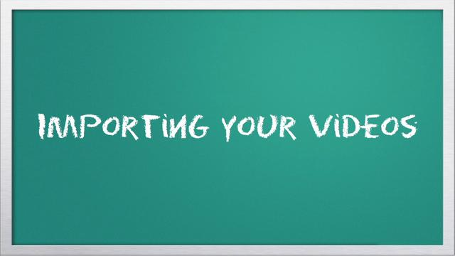 Video 101: Importing with iMovie