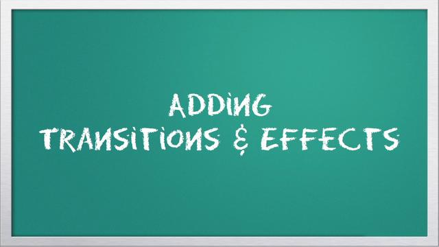 Video 101: Adding Transitions &amp; Effects with iMovie