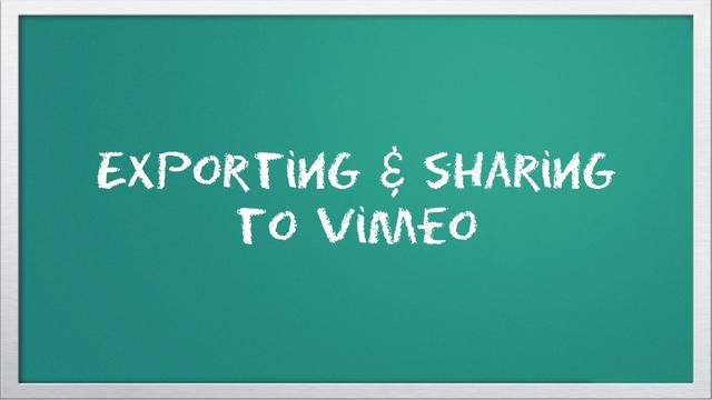 Video 101: Exporting &amp; Sharing To Vimeo with iMovie
