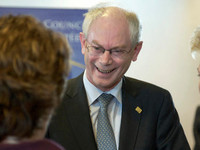 President Van Rompuy at the European Council meeting