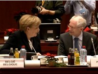 President Van Rompuy at the European Council meeting Day 2