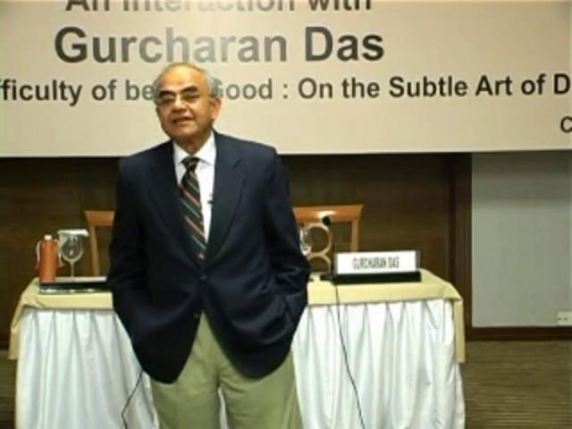 "Interaction with Mr Gurcharan Das -  Author of  ""The Difficulty of Being Good  on the Subtle Art of Dharma"""