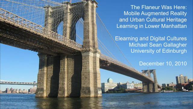Augmented Reality, Mobile Learning and Lower Manhattan
