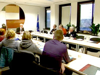 Meeting with readers of the newspaper Nieuwsblad