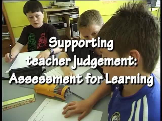 Supporting Teacher Judgment Assessment For Learning