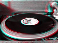 3D anaglyph of Edison Diamond Disc Record Player