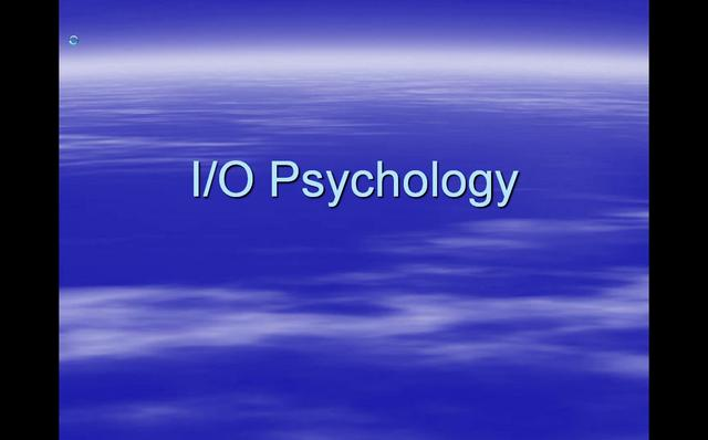 how to become an io psychologist