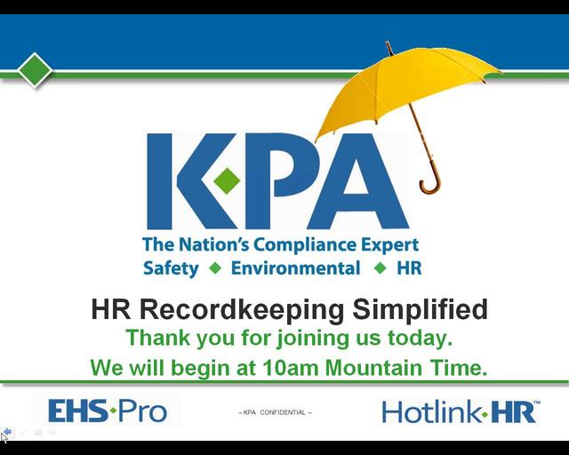 HR Recordkeeping Simplified