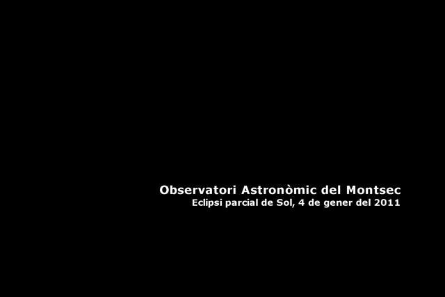 Eclipsi parcial de Sol des del Montsec