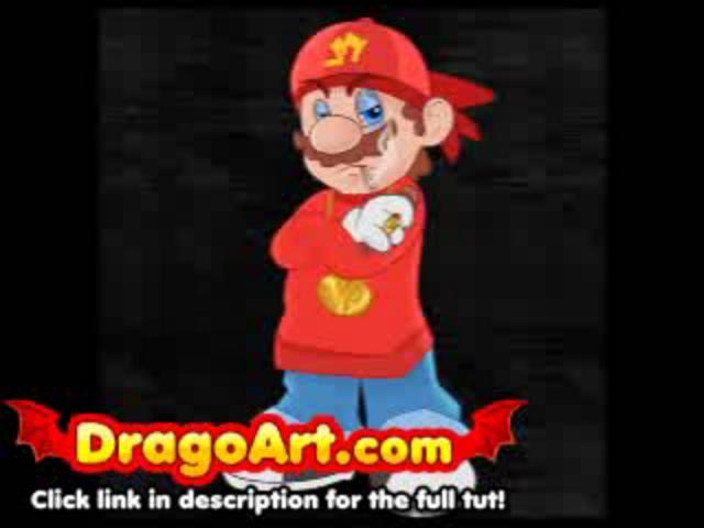 How to draw gangster Mario, step by step on Vimeo