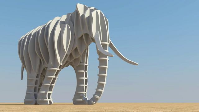 Gala event making of penguin and elephant 3d sculptures final video