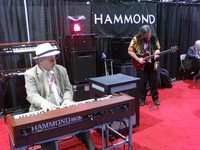 Winter NAMM Hammond Suzuki USA Stand Jon Hammond and Joe Berger Late Rent theme song