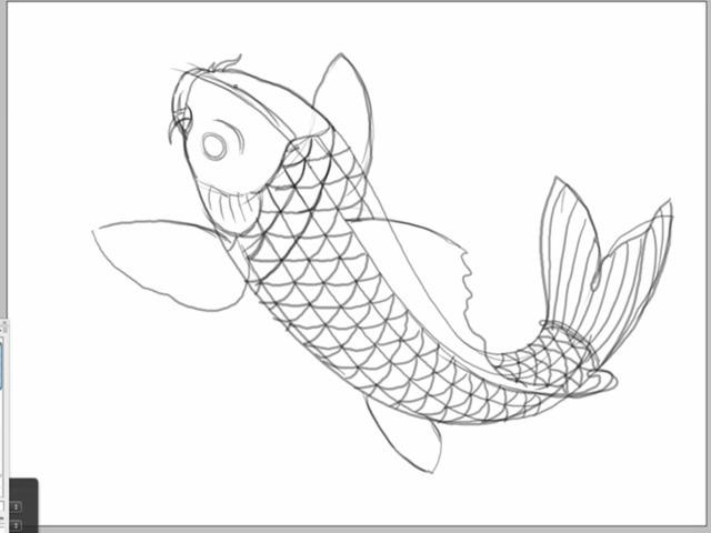 Ruthless & Toothless Kids Tutorial - How to draw a Koi Fish