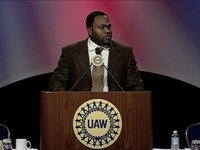 Jason Belser of the NFLPA shares his union roots at the 2011 UAW CAP Conference
