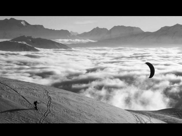 Le jour et la nuit - Snowkite au Col du Sabot