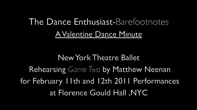A Valentine Dance Minute with New York Theatre Ballet