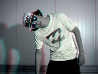 Liquid Force - Fredy von Osten - Wakeboarding - 3D red/cyan anaglyph