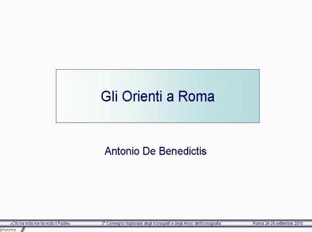 Gli Orienti a Roma