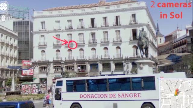Solarigrafia en la Puerta del Sol. Madrid 2010