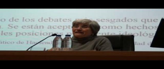 Miradas Criticas. Huesca. Mirem Etxezarreta. Pensiones