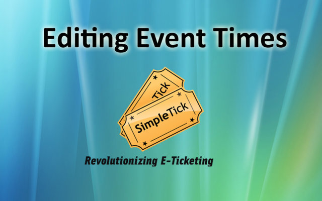 Editing and Adding More Details to Group Ticketing Events
