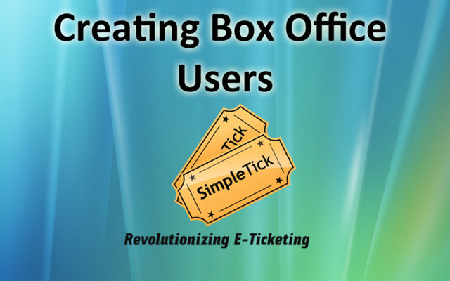 Create A Box Office User