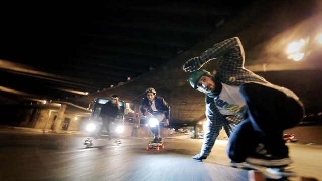Thumbnail of video Winter Night Longboard