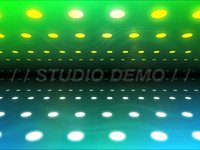 Abstract Blue and Green Lights Background Animation Loop