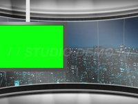 Virtual Set 6 – Left Animated Monitor