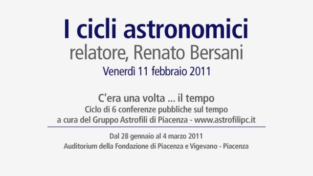 I cicli astronomici
