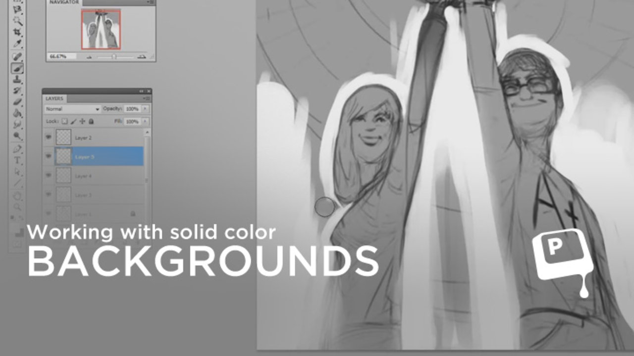 Photoshop Painting Solid Color Mask