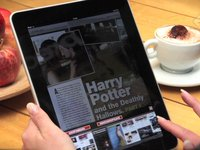 iPad app Preview magazine