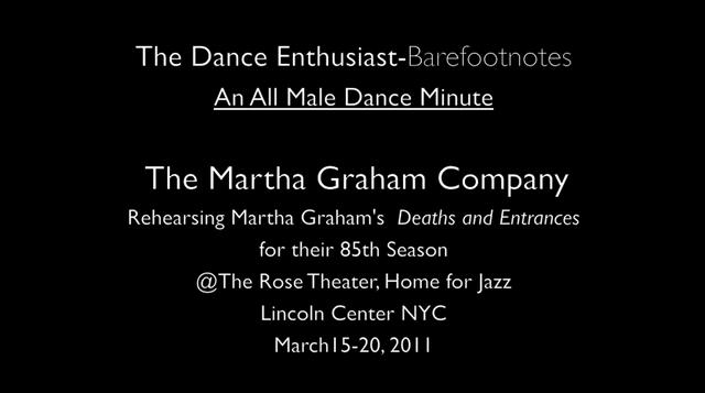 The Dance Enthusiast's Barefootnotes- An All Male Dance Minute