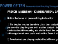 (FR K1) ADDING 10 THROUGH THE GAME 'POWER OF 10'