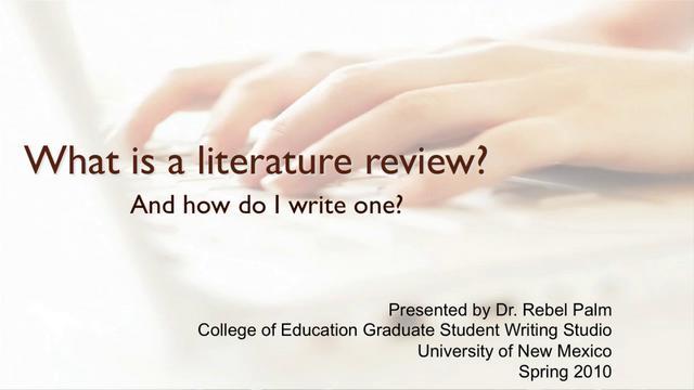 1St Class Dissertation Literature Review